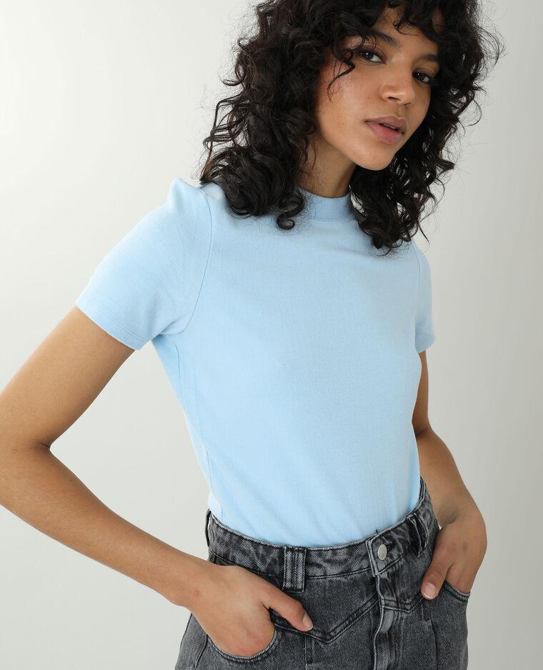 T-shirt tout doux bleu - Pimkie