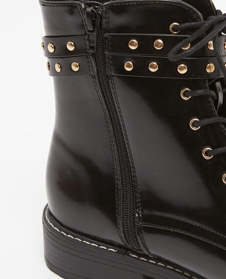 Boots rangers à brides noir