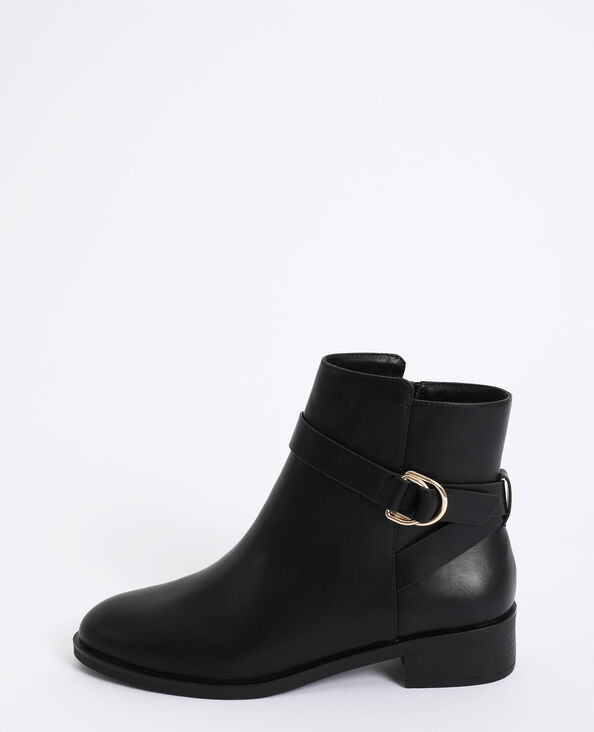 Bottines plates noir