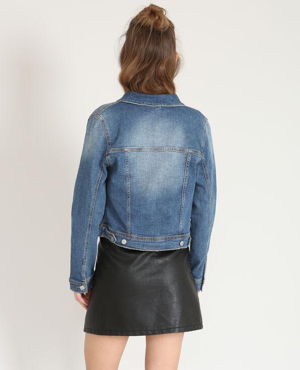 Vest en jean courte bleu