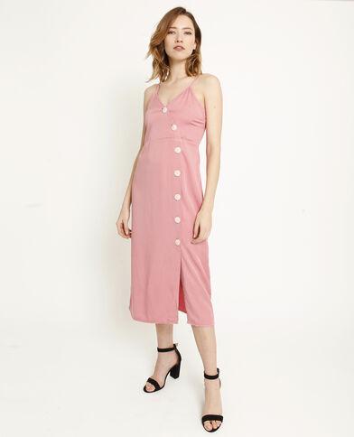 9971e8d832c Robe longue à boutons rose