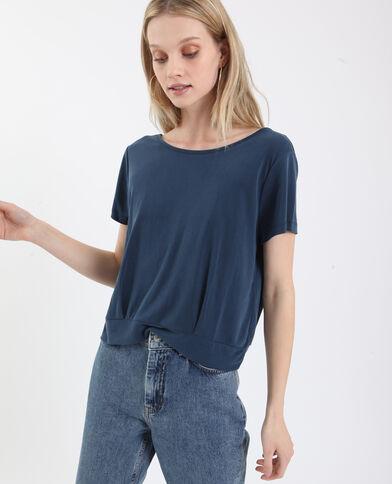 T-shirt à dos ouvert bleu foncé