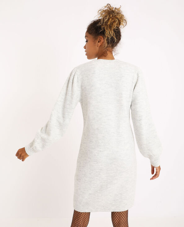 Robe pull gris perle