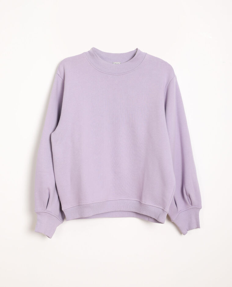 Sweat manches bouffantes violet