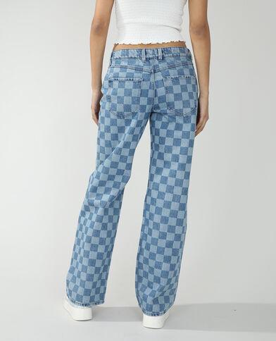 Jean wide leg mid waist bleu denim - Pimkie