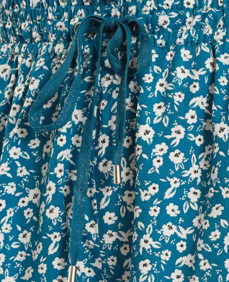 Short à fleurs bleu - Pimkie