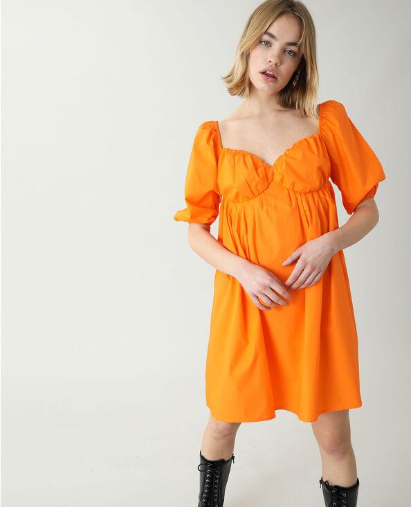 Robe trapèze orange