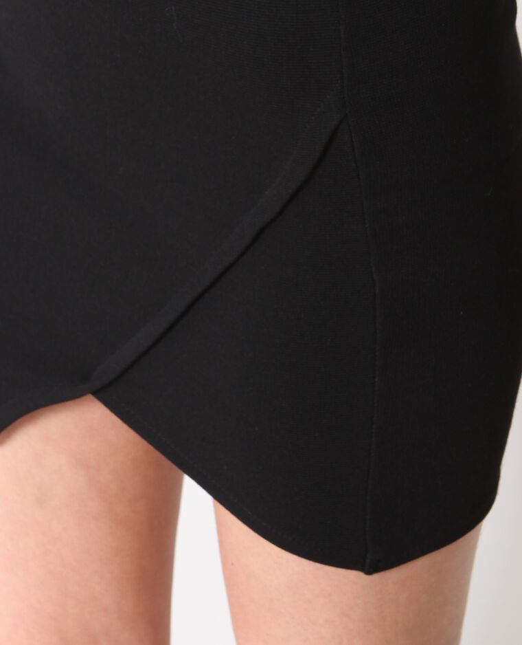 Mini jupe moulante noir