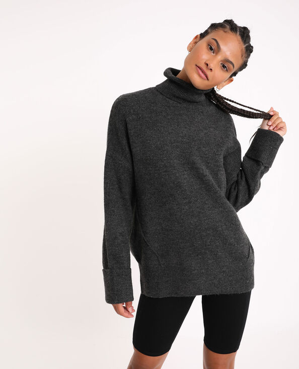 Pull ample gris