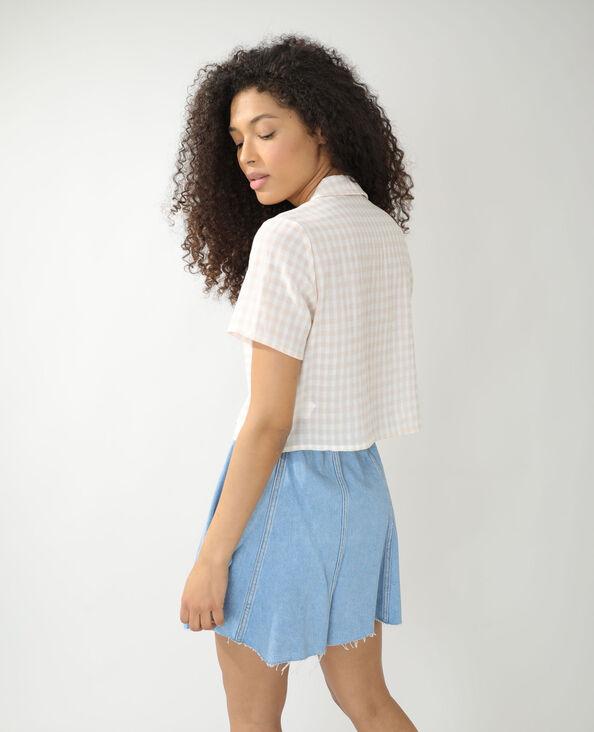 Chemise ample à carreaux beige - Pimkie