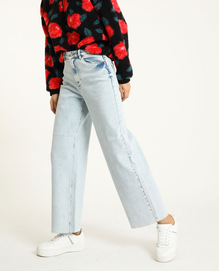 Jean wide leg bleu clair