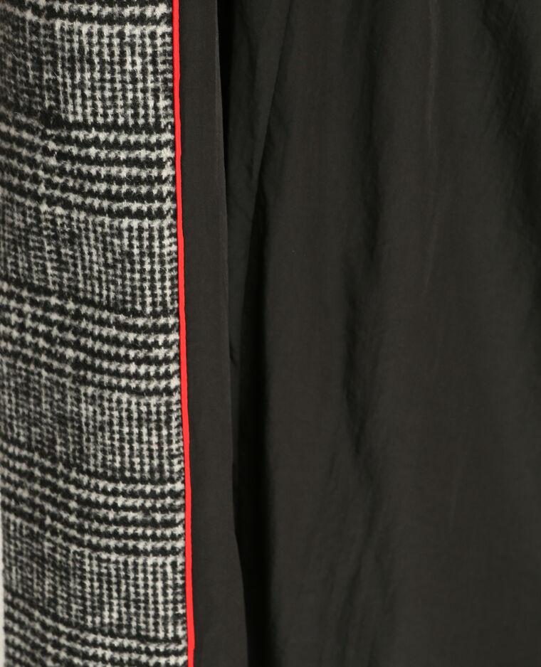 Manteau prince de galles noir 280127899B09 | Pimkie