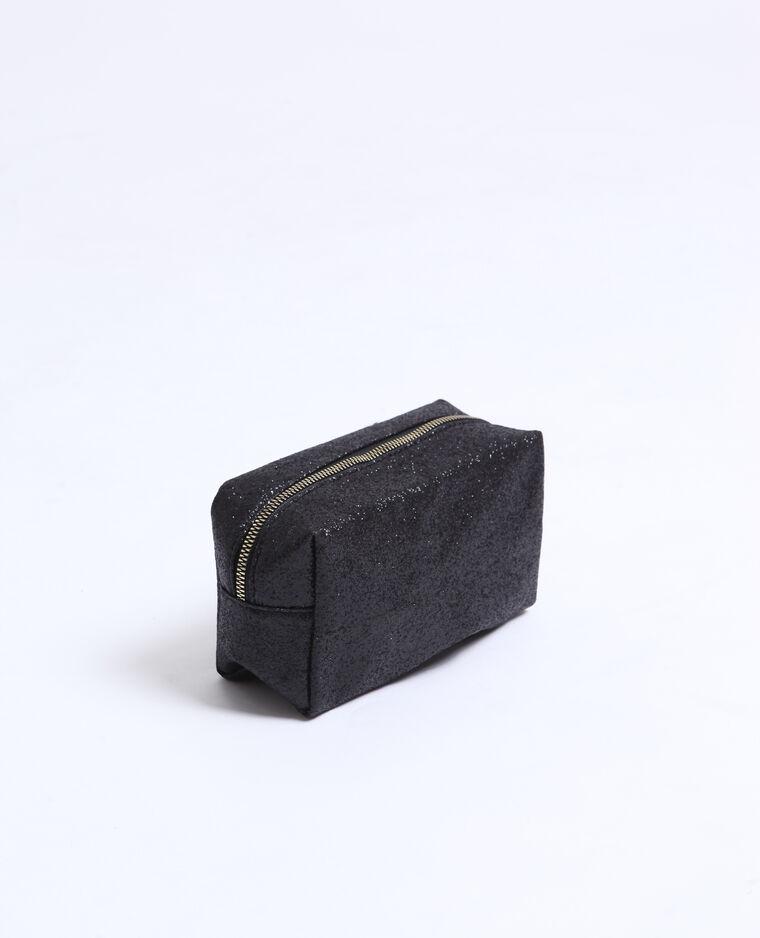 Trousse de maquillage pailletée noir