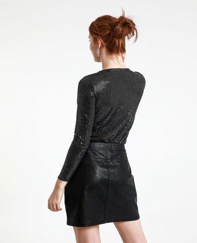 Body à sequins noir - Pimkie