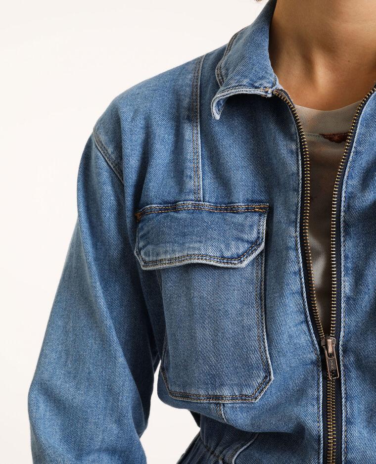 Combi-pantalon en jean bleu ciel - Pimkie