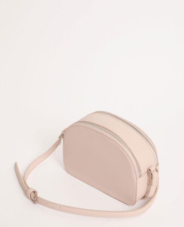 Petit sac zippé beige ficelle