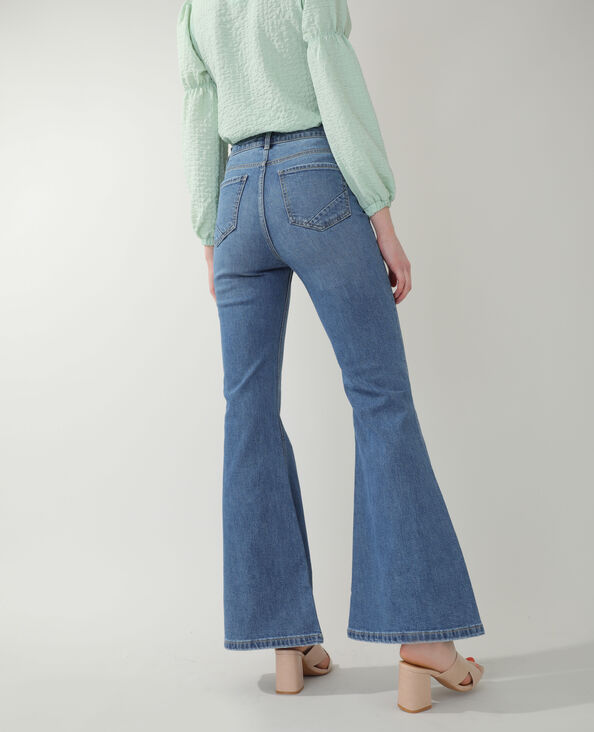 Jean flare high waist bleu denim
