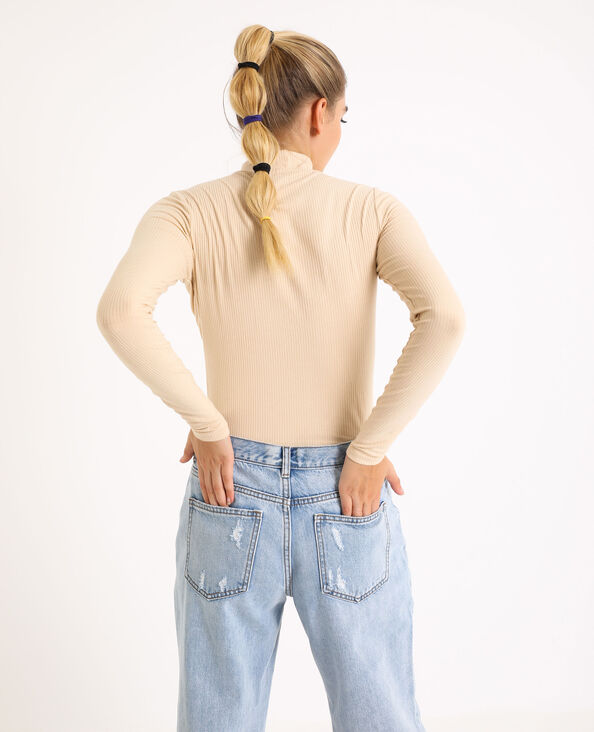 Sous-pull col montant beige - Pimkie