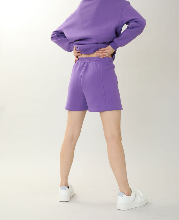 Short molleton violet