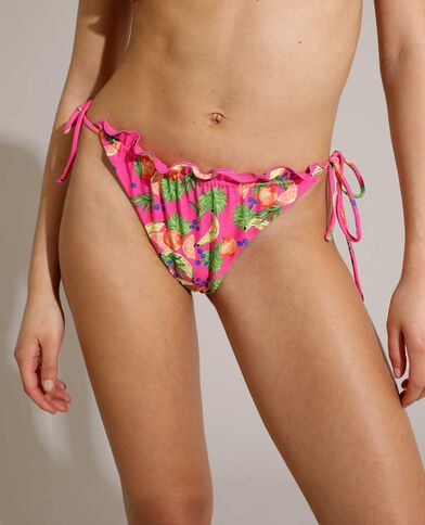 Bas de maillot culotte fruité et transformable rose