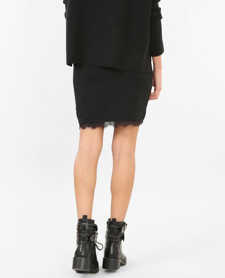 Mini jupe avec dentelle noir