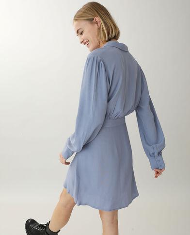 Robe chemise bleu