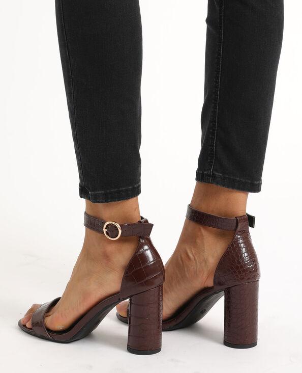 Sandales croco marron