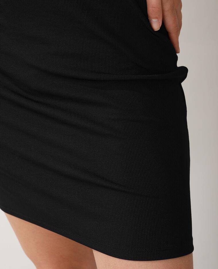 Robe polo côtelée noir - Pimkie