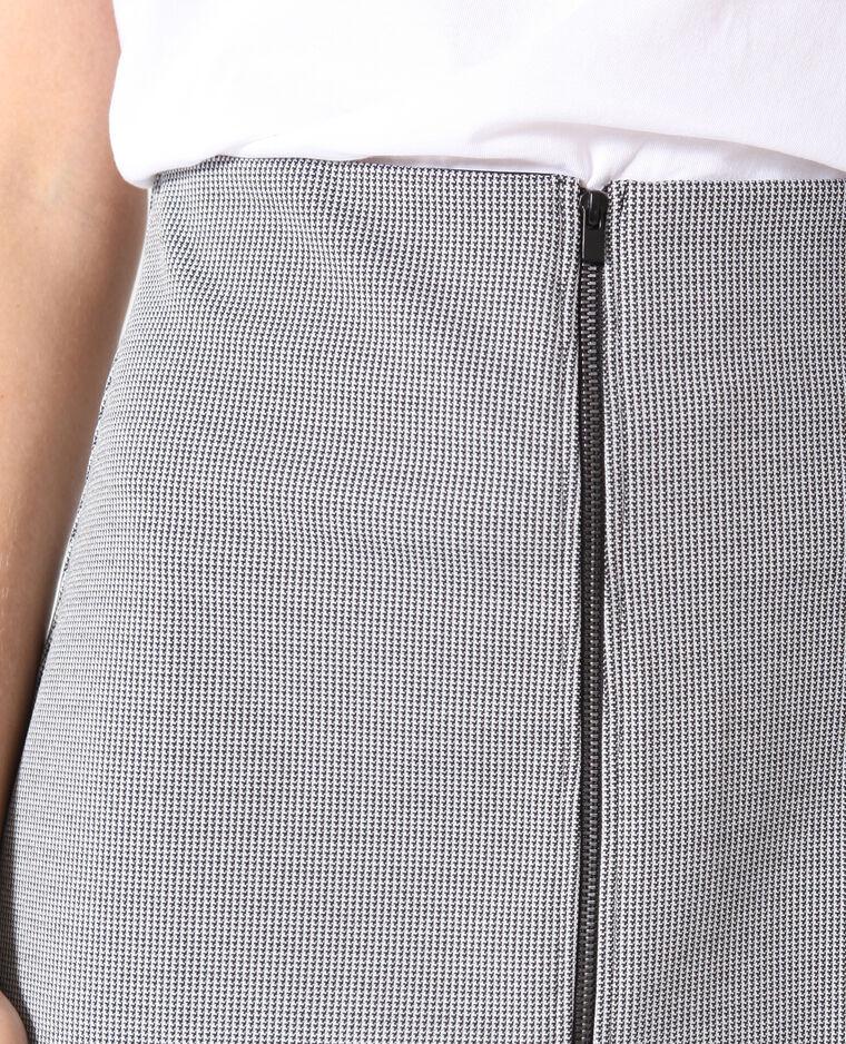 Jupe zippée gris chiné