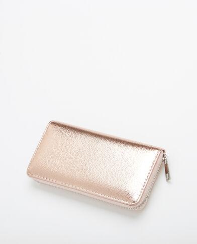 Portefeuille compagnon métallisé cuivré - Pimkie