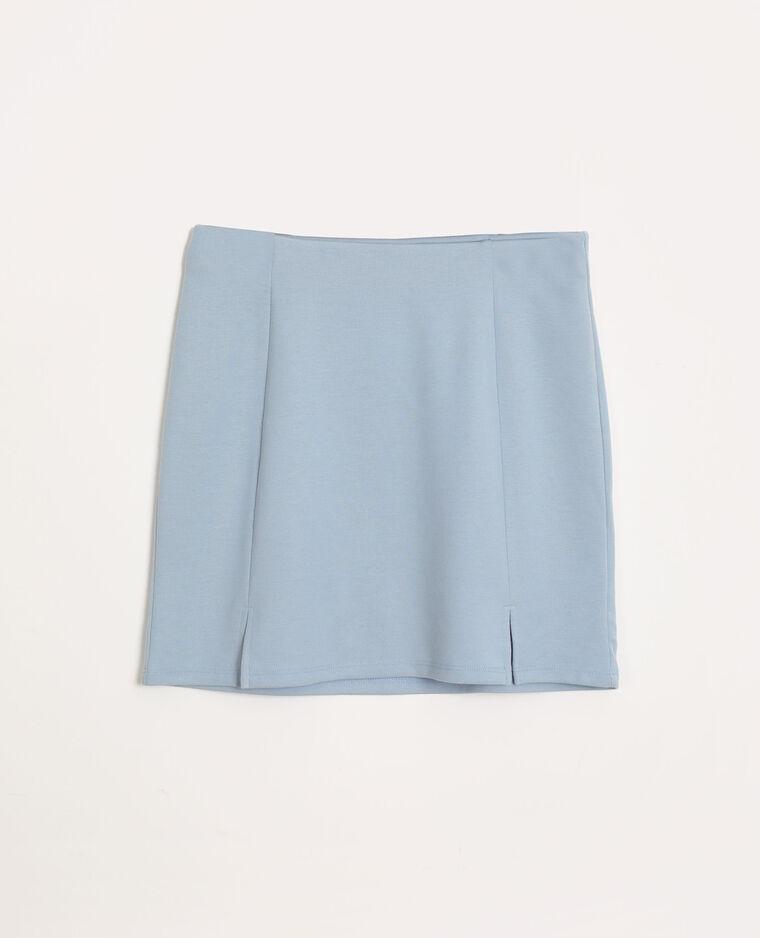 Jupe droite bleu