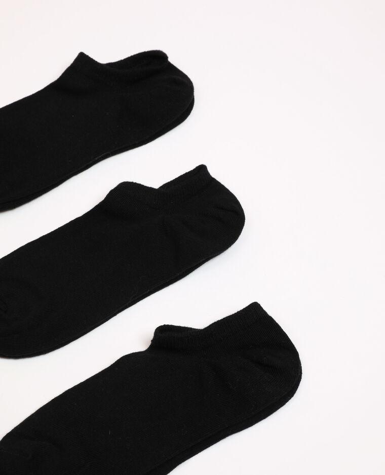 Lot de chaussettes basses noir - Pimkie