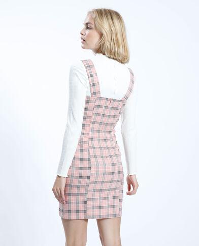 Robe fines bretelles à carreaux rose - Pimkie