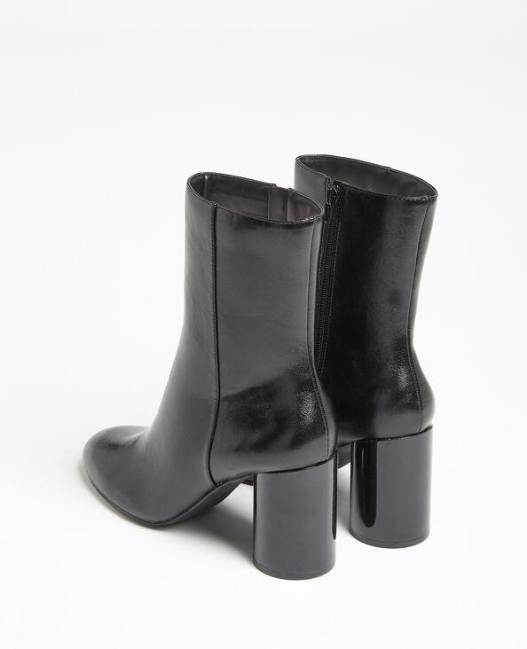 Boots à talons ronds noir