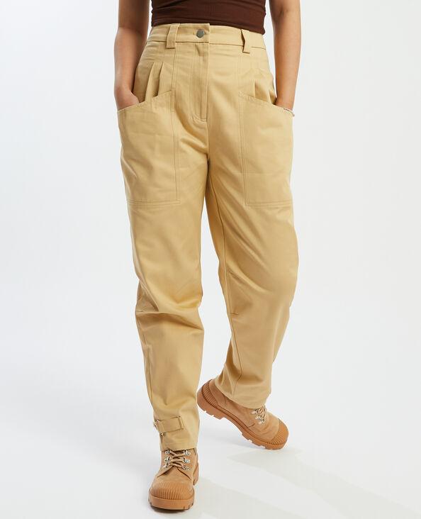 Pantalon cargo à pinces beige - Pimkie