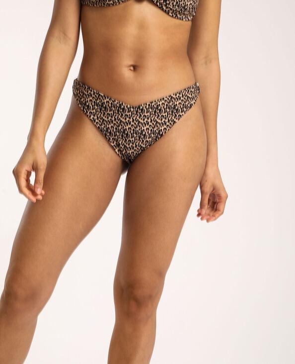 Bas de bikini léopard Camel