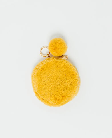 Porte-clefs en fausse fourrure Orange