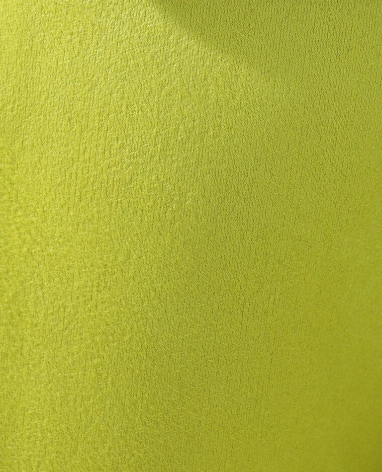 Surchemise en suédine à franges Jaune fluo - Pimkie
