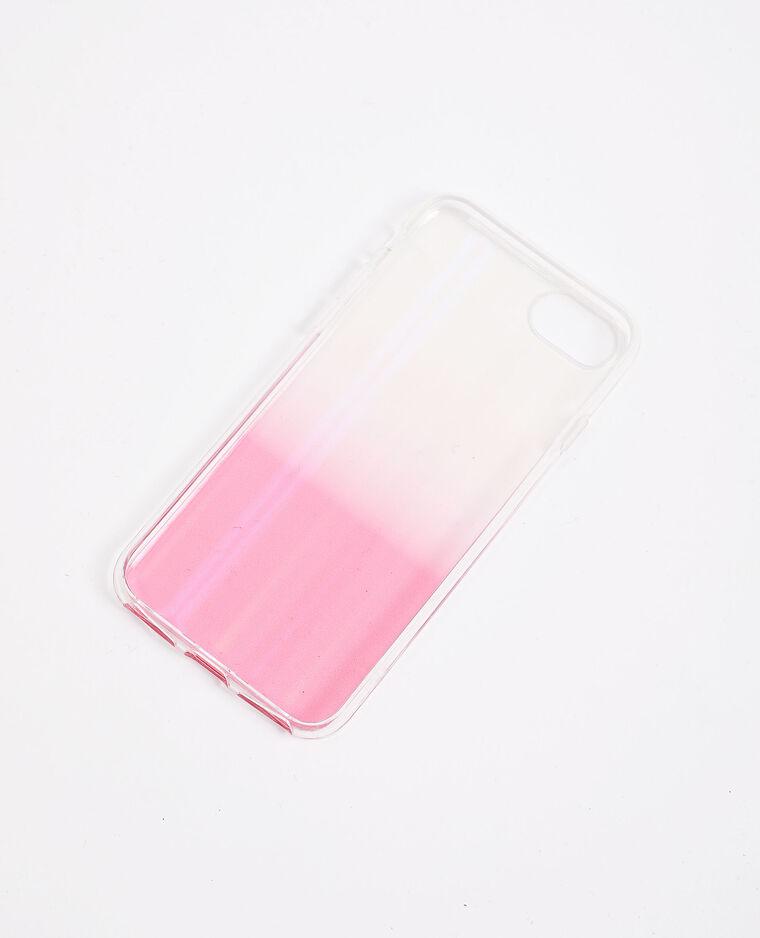 Coque compatible iPhone rose poudré