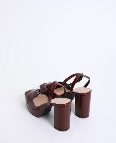 Sandales à plateforme grenat