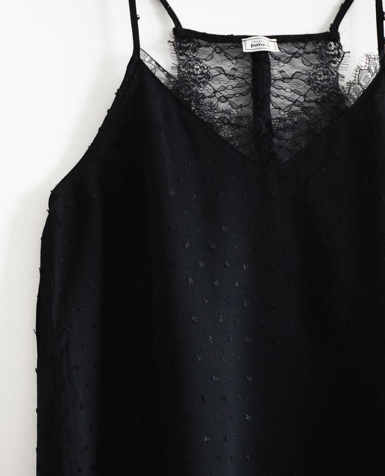 Top à fines bretelles noir - Pimkie