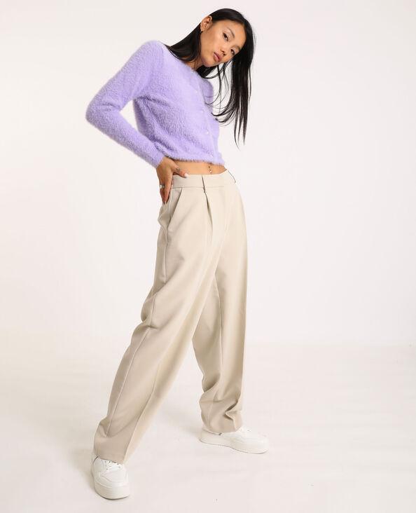 Pantalon ample beige ficelle