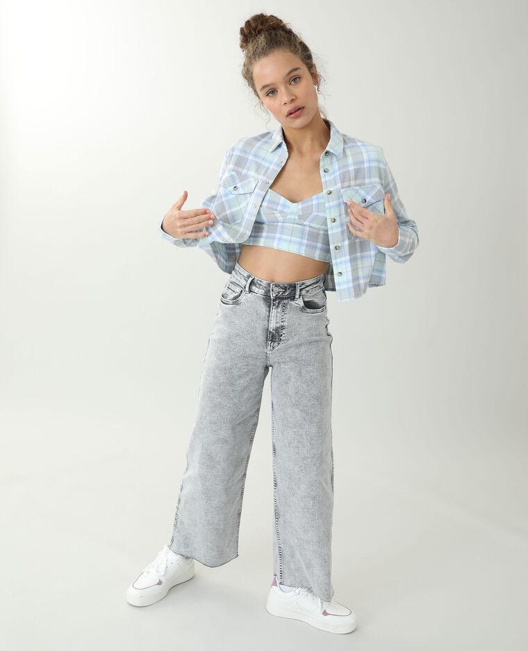 Jean wide leg gris - Pimkie