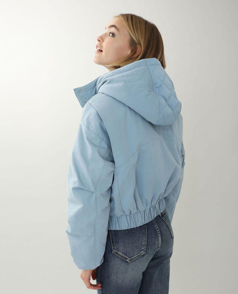 Blouson à capuche bleu