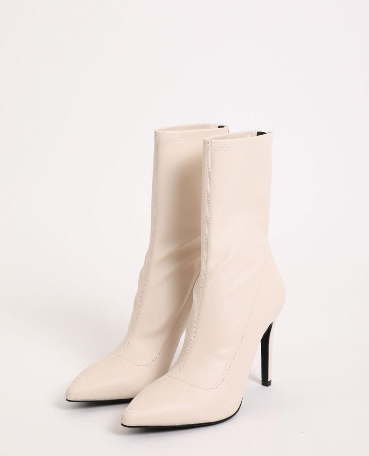 Boots pointues blanc cassé