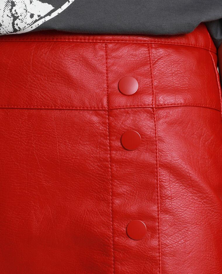 Jupe en faux cuir rouge - Pimkie
