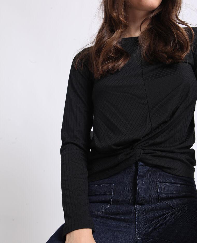 T-shirt twisté noir