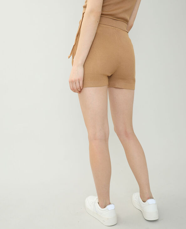 Short tricot beige sable