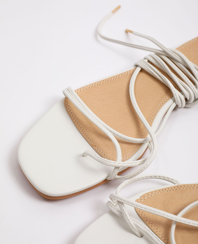 Sandales à lacets blanc - Pimkie
