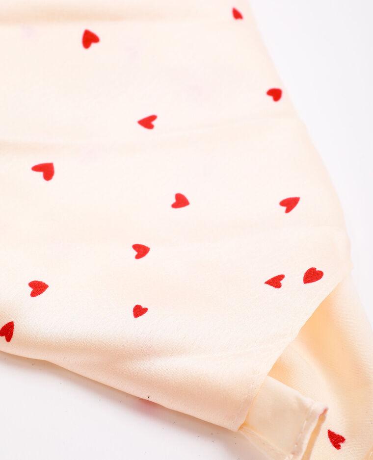 Foulard à cœurs beige - Pimkie